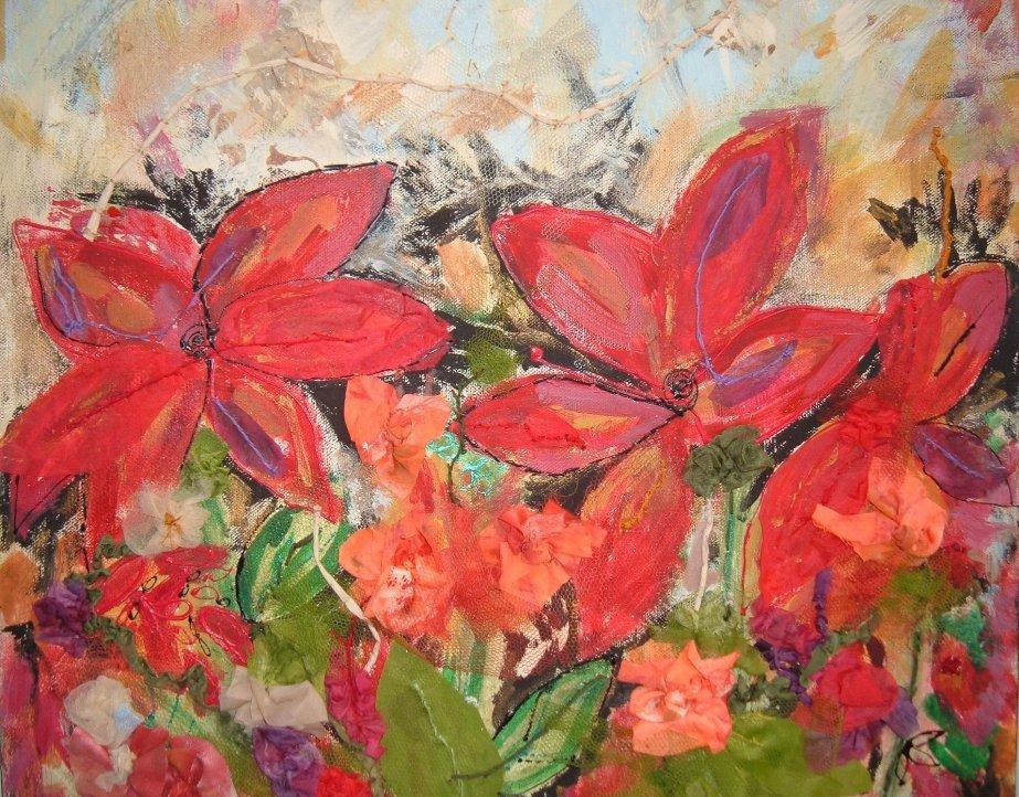 Red Flower Canvas