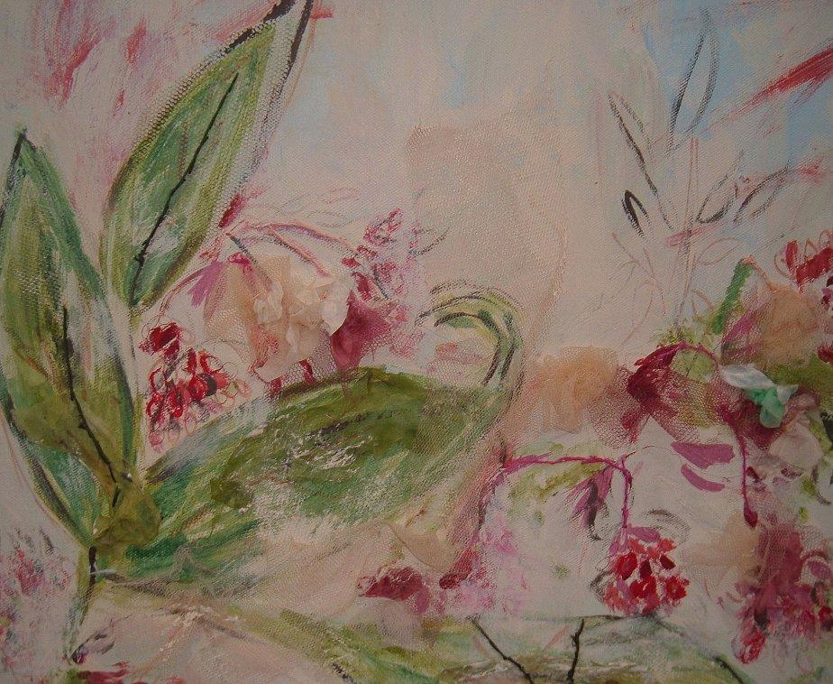 spring flower canvas